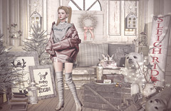 Cozy Winter (Gabriella Marshdevil ~ Trying to catch up!) Tags: sl secondlife cute kawaii doll foxy dami serenitystyle jian arcade halfdeer