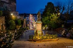 Denis Papin veille sur Blois (v.hajek) Tags: night blois poselongue exposition city longexposure denispapin ville escaliers nuit