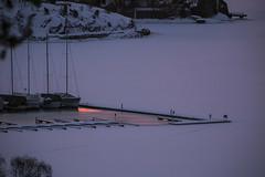 mirror (Leifskandsen) Tags: sunrise reflex red water harbor ice boats bay sandvika bærum høvikodden camera canon living leifskandsen leif skandsenimages scandinavia skandsen sea