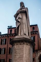 Statue of Dante, Verona, Veneto, Italy (R H Kamen) Tags: dante danteitalianpoet italy unescoworldheritagesite veneto veronaitaly architecture day malelikeness marble memorial monument outdoors rhkamen statue verona