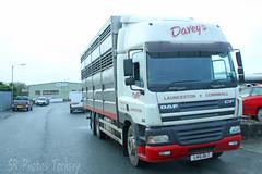 DAF CF Davey's Livestock Transport L40 DLT (SR Photos Torksey) Tags: transport truck haulage hgv lorry lgv logistics road commercial vehicle freight traffic daf cf daveys livestock