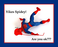 Missed the web again...... (Mr_Camera71) Tags: spiderman comic humor funny blood toy aedimages samsung