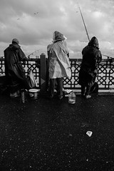 Fishers (㋡ Aziz) Tags: people fujifilm 1655 f28 street streetphotography bw blackandwhite fish bridge sky clouds rain storm story documentary landscape outside outdoor fun light old