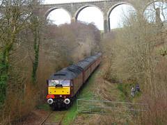 47772 - The Looe Brush Tour - Lamellion Bridge, Coombe [Explored] (Marky7890) Tags: westcoastrailways 47772 class47 1z47 coombejunctionhalt railway cornwall looevalleyline train lamellion