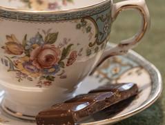 Macro Monday - Brew (alisonhalliday) Tags: macromondays brew sigman105mm cupoftea antiqueteaset tea chocolate