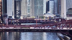 Chicago River VIew (Laurence's Pictures) Tags: train chicago transit authority cta loop purple line linden spirit 1976 heritage fleet boeing boeingvertol ridley park pennsylvania 2400 series cars rapid passenger l el mass