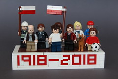 We, Poles, we prevail. (Jan, The Creator) Tags: poland 100 years independence history tribute 1918 2018 whitered flags people lego zbudujmyto