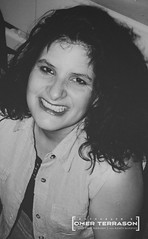 Wife - 1193 (oterrason) Tags: wife woman candid portrait lady cute pretty smile happy lovely amazing attractive alluring adorable sexy gorgeous beautiful beauty blackandwhite monochrome monochromatic bw carlzeiss contaxrtsii planart50mmf14cy agfaagfapanapp200 asa200