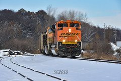Playing in the snow. (Machme92) Tags: bnsf burligrton emd railroad railfanning railroads railfans rails rail row railroading railfan