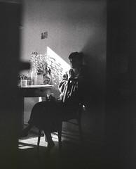 Berlin, July (nikolaijan) Tags: mamiya rb67 ilford panf50 c90mmf38 bw 120 berlin portrait analog analogportrait