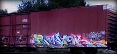 (timetomakethepasta) Tags: revok msk freight train graffiti art ns boxcar norfolk southern
