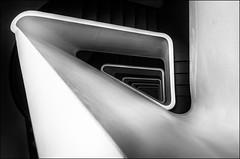 * TreppenArt * (antonkimpfbeck) Tags: treppenauge treppe staircase spiralstair architektur monochrome bw hamburg fujifilm