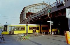 Berlin Bahnhof Friedrichstraße  26.8.2018 (rieblinga) Tags: berlin mitte friedrichstrase sbahn strasenbahn bahnhof 2682018 analog fuji gsw 690 iii kodak ektar 100 c41