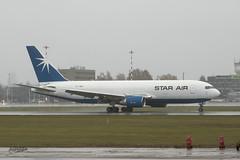 IMGP1172@L6 (Logan-26) Tags: boeing 767204erbdsf oysrh msn 24457 star air maersk in rain riga international rix evra latvia airport cargo aleksandrs čubikins