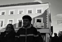 In the Butter Market (Bury Gardener) Tags: burystedmunds bw blackandwhite britain suffolk street streetphotography snaps streetcandids strangers candid candids people peoplewatching folks 2018 buttermarket