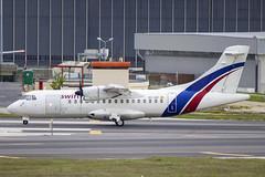 EC-IVP | Swiftair | ATR 42-300(F) | CN 231 | Built 1991 | LIS/LPPT 02/05/2018 | ex F-GKND (Mick Planespotter) Tags: aircraft airport 2018 nik sharpenerpro3 portela delgado lisbon humbertodelgado humberto portugal ecivp swiftair atr 42300f 231 1991 lis lppt 02052018 fgknd freighter cargo prop turboprop