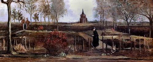 IMG_5147 Vincent Van Gogh 1853-1890  Spring garden, the rectory garden at Nuenen in the spring. Jardin de printemps, jardin du presbytère à Nuenen  1884 Groningen.   Groninger museum  Les oeuvres présentées ici appartiennent toutes à la période de l'Art M