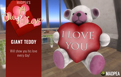 MadPea Giant Teddy - 14 Days of Love Calendar Day 1 (MadPea Productions) Tags: madpea productions calendar madpeas 14days love 14 days valentines valentine gift gifts cupid decor