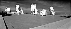 """Rock Strangers"" Arne Quinze, digue d'Ostende, Belgium (claude lina) Tags: claudelina belgium belgique belgië ostende mer sea plage beach merdunord noordzee sable cabine oeuvre art sculpture rockstrangers arnequinze"