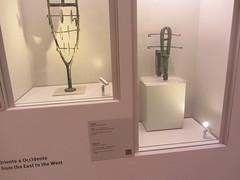 Sistrums, CaixaForum, Madrid, June 2018 (d.kevan) Tags: exhibitions caixaforum ancientinstruments displaycabinets june2018 madrid spain exhibits sistrums