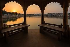Sunset at Pushkar (Ashmalikphotography) Tags: pushkar pushkarfestival pushkarpukare pushkarmela pushkarlake travel travelphotography lovefortravel flickrtravelaward ashmalikphotography ashishshoots ashishmalikphotography sunset arches rajasthan ajmer