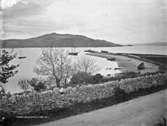 Fahan in Lough Swilly. (National Library of Ireland on The Commons) Tags: robertfrench williamlawrence lawrencecollection lawrencephotographicstudio thelawrencephotographcollection glassnegative nationallibraryofireland fahan codonegal pier spitofland sailingship moored loughswilly redhughodonnell ulster ireland narrowguage countydonegal donegal fahanpier rinnarawpoint