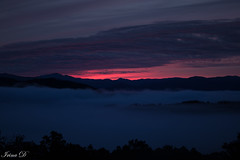 Daybreak (Irina1010) Tags: sunrise daybreak sky mountains fog mountainridges smokeymountains foothillparkway clouds beautiful nature canon