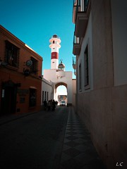 lighthouse (lauracastillo5) Tags: lighthouse street city cityscape rota cadiz blue sky landscape outdoors vanishingpoint