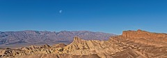 Zabriskie Point 2573 C (jim.choate59) Tags: jchoate on1pics deathvalley zabriskiepoint desert mountains moon moonset