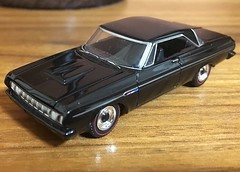 1964 Plymouth Fury Max Wedge 1/64 Greenlight (Eunus El Ya) Tags: american muscle car cars toy diecast model 164 greenlight collectibles drag racing road tracks racer mopar plymouth chrysler dodge fury belvedere 1964 60s max wedge 1960s black bandit