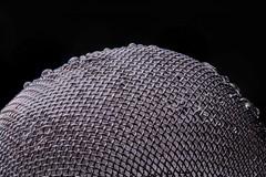 "Tea Ball (suheilunneen) Tags: mesh metal droplets drops lit monochrome closeup macro macromondays teaball tea brew ""macromondays"""
