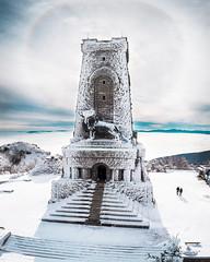 Frozen Pride (simeon_sk) Tags: 2018 balkan bulgaria december drone europe mavic mavicair monument mountain shipka snow winter