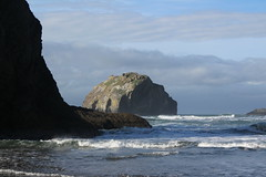 Face Rock, forever looking at the sky (rozoneill) Tags: bandon beach face rock coquille point river devils kitchen oregon coast trail hiking