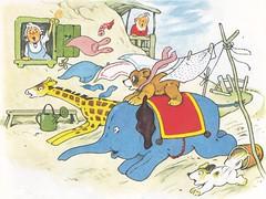 Teddybuch / Tazzo und seine Freunde / Bild 9 (micky the pixel) Tags: buch book livre kinderbuch bilderbuch childrensbook unipartverlag meingrossesfarbigesteddybuch teddybuch fritzbaumgarten tazzoundseinefreunde spielzeug toys spielzeugtiere hund dog giraffe elefant elephant teddy bär bear wäscheleine clothesline