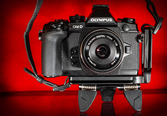 O-MD E-M1. (CWhatPhotos) Tags: cwhatphotos omd em1 mki mk l lens camera photographs photograph pics pictures pic picture image images foto fotos photography artistic that have which contain digital black micro four thirds olympus macro closeup 43 rds 43rds light shadow art round circle circular graphic logo vision approach view flickr quick releae universal bracket 17mm prime f18 mzuiko lugs strap lug loose problem fault solution faultylugs