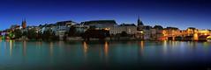 Basel Skyline (FH | Photography) Tags: basel schweiz europa skyline altstadt rhein pano panorama fluss stadt wahrzeichen hauptstadt brücke ufer blauestunde hauptstdt