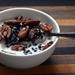 Oatmeal With Hemp Milk, Black Currants and Pecans