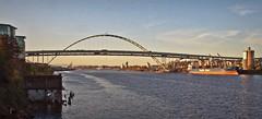 Fremont Bridge late afternoon light 11 8 2018 (rbdal (Rick Dalrymple)) Tags: tiedarchbridge fremontbridge bridge bridgearchitecture bridgephotography willametteriver multnomahcounty pdx portland oregon d7000 nikon november fall autumn