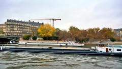Barging Through (3) (Carl Campbell) Tags: nikond5200 paris enhanced river seine barge