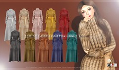 {amiable}Cable Knit Maxi One-piece@ N°21 Dec(50%OFF SALE). (nodoka Vella) Tags: n21 event sl secondlife nodoka nodokavella amiable {amiable} sale new mesh maitreya tmp belleza slink knit maxi dress onepiece design 3d avatar game セカンドライフ セール イベント n°21 physique hourglass isis freya venus
