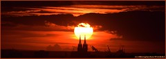 Sun and Cathedral (BergischerTrekki) Tags: köln cologne kirche kathedrale cathedral germany deutschland sonnenuntergang sunset november autumn sun clouds shadow church towers