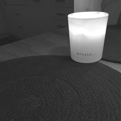 Candle on a table (Erik Viggh) Tags: darkr experiment shotoniphone