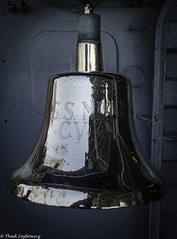 Bell USS Midway CV 41 (Thad Zajdowicz) Tags: zajdowicz sandiego california usa travel canon eos 5dmarkiii dslr digital availablelight lightroom ussmidway aircraftcarrier cv41 warship usnavy bell vignette color gray gold colour ef24105mmf4lisusm