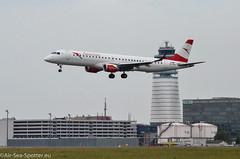 Embraer ERJ-195LR (ERJ-190-200 LR) OE-LWJ (Austrian Air Spotter) Tags: embraer erj195lr embraererj195lrerj190200lr erj190200lr aircraft airline aviation austrianairlines sigma spotter flugzeug fahrzeug flughafen cockpit viennaairport vie vienna nikon nikon7000 jet linienflugzeug outdoor tamron takeoff touchdown taxiway tamronsp150600mmf563divcusdg2 tower runway