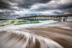 Outer Banks NC North Carolina Beach Seascape Photography OBX (Dave Allen Photography) Tags: obx outerbanks beach northcarolina nc seascape surf waves pier nagshead ocean outdoors nature coastal coast eastcoast atlantic nikon zeiss longexposure movement