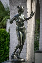 Freedom Attained (dayman1776) Tags: art museum brookgreen gardens garden south carolina myrtle beach sculpture sculptor sculptures trees escultura statue bronze metal nude naked breasts figurative modern female woman women bird flying sony a6000 telephoto