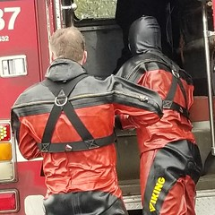 Harnesses (chemsuiter) Tags: chicagofiredepartmentdivers scubateam diveteam drysuit vikingdrysuit dusableharbor divers