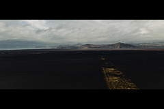 """Iceland #4 """"You should have let me sleep!"""" (- Loomax -) Tags: iceland drone dji mavic black blacksand mountains beach startrek starwars filminglocation rogueone"""