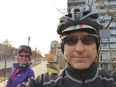 Cold Selfie on the Custis (Mr.TinDC) Tags: people friends cyclists selfie ted me shira mrtindc biking cold