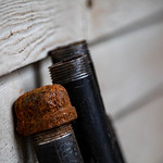 Backyard black pipe bokeh thumbnail
